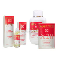 Rosance X20 Whitening Set (Lotion, Cream, Gel, Serum, Soap)