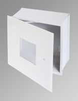 ".8.25"" x 8.25"" Valve Box with Window and Hidden Flange"