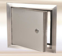 "8"" x 8"" Exterior Access Panel - with piano hinge Aluminum"