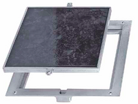 "18"" x 18"" Removeable Floor Door - 1""  Recess for Ceramic Tile / Concrete - Acudor"