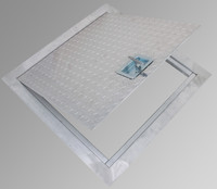 "24"" x 24"" Flush Aluminum Floor Hatch - Cendrex"