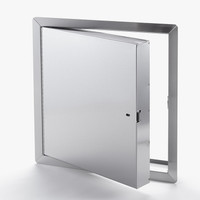 "12"" x 12"" - Fire Rated Insulated Access Door with Flange - Stainless Steel"