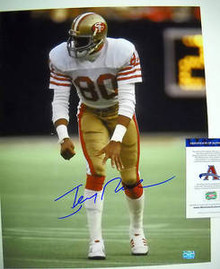 JERRY RICE SAN FRANCISCO 49ERS SIGNED 16X20 PHOTO AAA