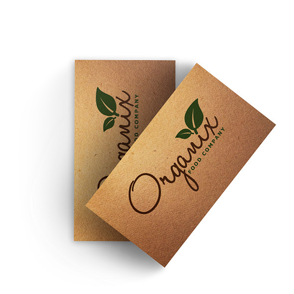 Recycled Cardboard Kraft Paper Business Cards Flyers Asap