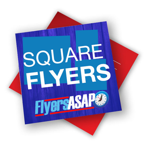 Square glossy flyers are printed on 12 point card stock in Atlanta, Georgia done same day or next day. Printing Flyers and business cards on digital and offset press.