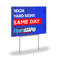 Same day yard sign printing is done in Atlanta Georgia. Monday - Friday the cut off time is 2:30pm and Saturday the cut off time is 11:00am EST to have done same day. If your order is submitted after the cut off, it will complete the following business day.