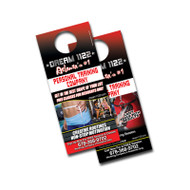 4 x 9 Door Hanger (12pt Glossy Card Stock)