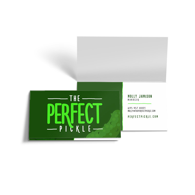 Folded Business Cards 35 X 4 Flyers Asap
