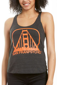Charcoal & Orange Logo Racerback