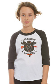 Kids Take Meeeow Baseball Tee