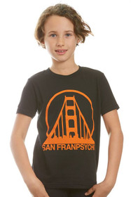 Kids Black & Orange Logo Tee