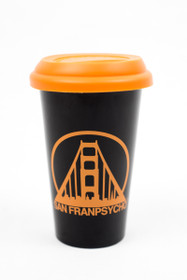 Black w/ Orange Logo Tumbler