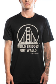 Build Bridges Not Walls Black and Bone Tee