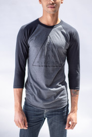 Grey/Black Nio Triangle Baseball Tee