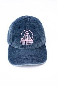 Denim Build Bridges Not Walls Hat