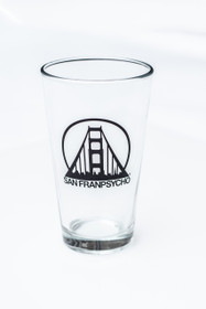 Have a pint in our SFP pint glass!   Height: 5 3/4'
