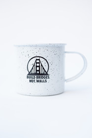 Build Bridges Not Walls Speckled Mug