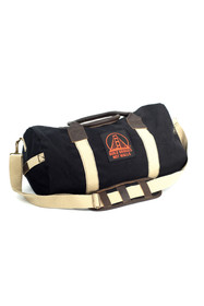 Black and Tan Duffle w/ Build Bridges Not Walls Patch