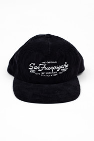 Navy SFP Embroidered Corduroy Hat