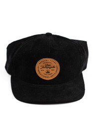 Black Corduroy Hat w/ Tan Yerba Buena Patch