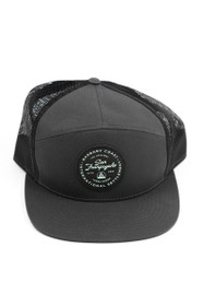 Grey Trucker Hat w/ Black Yerba Buena Patch