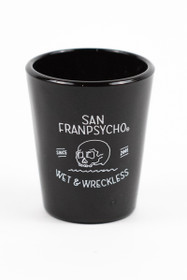 Wet & Wreckless Shot Glass (Black)