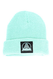 Mint Waffle Beanie w/ Black/Mint SFP Patch