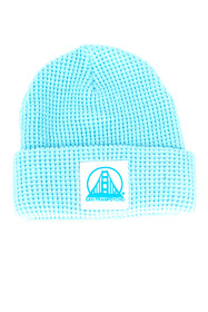 Baby Blue Waffle Beanie w/ White/Blue SFP Patch