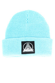 Baby Blue Waffle Beanie w/ Black/Lt. Blue SFP Patch