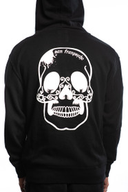 Black Sugar Skull Zip-Up Hoodie