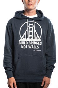 Navy Build Bridges Not Walls Pullover Hoodie