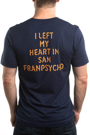 I Left My Heart in SFP Navy Tee