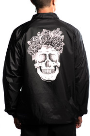 Flower Skull Coaches Jacket