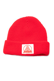 Red Waffle Beanie w/ Natural/Red SFP Logo