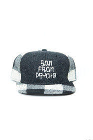 "Grey ""San Franpsycho"" Plaid Hat"