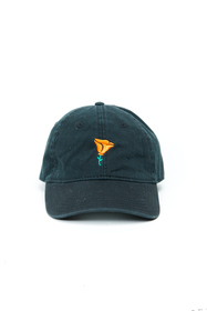 Black Poppy Dad Hat