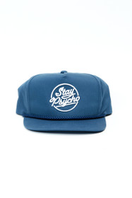 Stay Psycho  Navy Snapback Hat