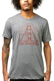 Fogtown Grey & Red Tee