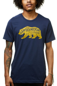 Cali Bear Navy & Yellow Gold Tee