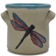 Small Crock -Dragonfly
