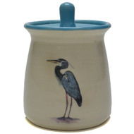 Sugar Jar - Heron - The heron symbolizes stillness and tranquility, and how these two things are needed to recognize opportunities