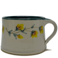 Soup Mug - Gold Flower Vine