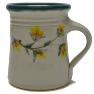 Flare Mug - Gold Flower Vine