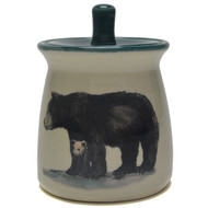 Sugar Jar - Black Bear - When a mother black bear leads her cubs away from a den, her usual destination is a big tree where the cubs can take refuge from danger.