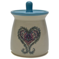 Sugar Jar - Heart The heart symbolizes the center of your thoughts and emotions, especially love.-