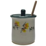 Honey Pot - Gold Flower Vine