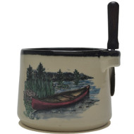 Dip Bowl with Spreader Knife - Canoe