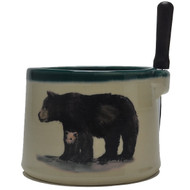 Dip Bowl with Spreader Knife - Black Bear