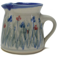 Creamer - Emily's Flowers - Like a field of flowers, the delicate red and blue petals look to be swaying in the breeze, and allow your daydreaming of summer pasts.