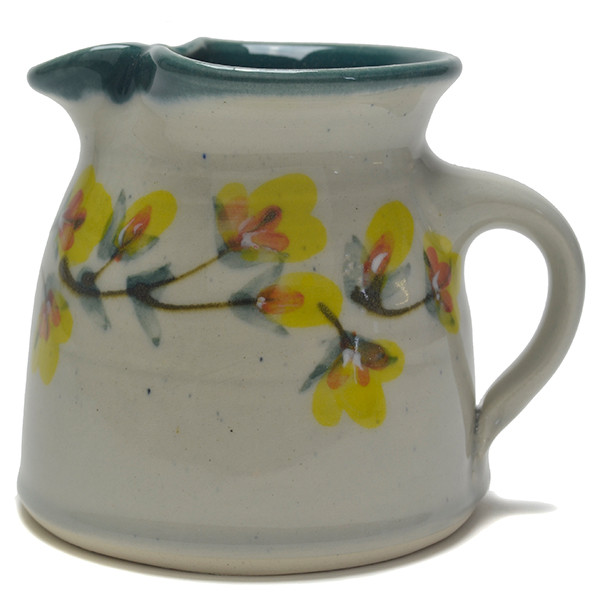 Creamer 12 Oz Gold Flower Vine Laurel Leaves With Gold Flower Accents Such A Lovely Flower In Every Aspect Let It Rim Your Favorite Coffee Mug Great Bay Pottery